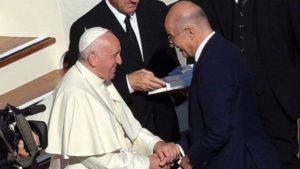 Συνάντηση Νίκου Δένδια με τον Πάπα Φραγκίσκο