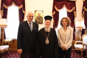 Ο νέος Πρέσβης της Ελλάδος στην Άγκυρα στον Βαρθολομαίο