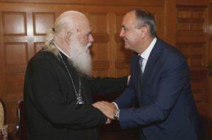 Με τον υφυπουργό Μακεδονίας-Θράκης συναντήθηκε ο Αρχιεπίσκοπος