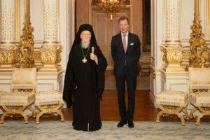 Συνάντηση του Οικουμενικού Πατριάρχη με τον Μέγα Δούκα του Λουξεμβούργου