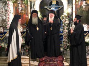 Ο Αρχιεπίσκοπος και Ιεράρχες στην εορτή των Εισοδίων της Θεοτόκου στη Λιβαδειά