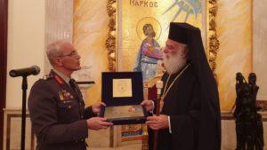 Ο Πατριάρχης Αλεξανδρείας υποδέχθηκε τον αρχηγό ΓΕΣ