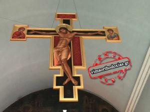 Ο υψωθείς εν τω Σταυρώ στην Αγία Βαρβάρα