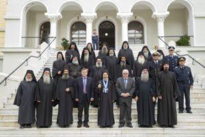 Η υποδοχή του νέου Διοικητή του Αγίου Όρους στις Καρυές