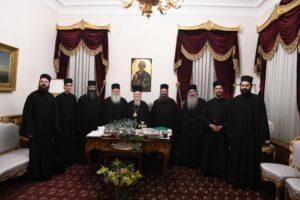 Αγιορείτες στον Οικουμενικό Πατριάρχη Βαρθολομαίο (ΦΩΤΟ)