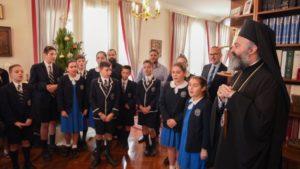 Κάλαντα Χριστουγέννων άκουσε ο Αρχιεπίσκοπος Αυστραλίας Μακάριος