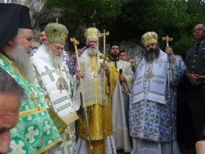 Λαμπρός εορτασμός του Οσίου Παταπίου στη Μονή του στο Λουτράκι (ΦΩΤΟ)