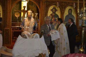 Στην Αγία Παρασκευή Ηλιούπολης ο Λευκάδος Θεόφιλος