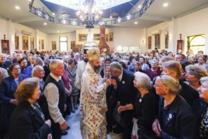 Ο Αυστραλίας Μακάριος στην Κοινότητα Αγίου Σπυρίδωνος Κλέιτον