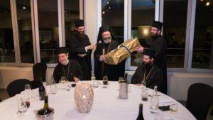 Δείπνο προς τιμήν του Σεβαστείας Σεραφείμ από τον Αυστραλίας Μακάριο