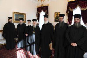 ΦΑΝΑΡΙ: Ο Αρχιεπίσκοπος Κρήτης και Μητροπολίτες στον Οικουμενικό Πατριάρχη