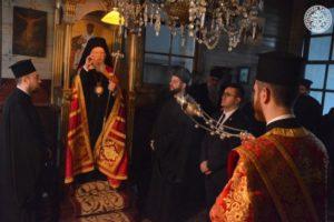 Ο Οικουμενικός Πατριάρχης στη Μονή του Αγίου Σπυρίδωνος στην Χάλκη
