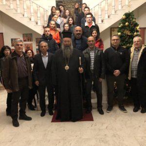Επίσκεψη πρωταθλητών στίβου στον Μητροπολίτη Κίτρους κ. Γεώργιο