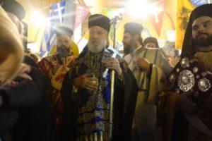 Ο Σύρου Δωρόθεος στη λιτανεία της Εικόνας του Αγίου Ελευθερίου στην Αθήνα