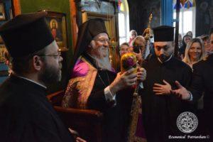Στο Βατοπαιδινό Μετόχι με τους ρωσόφωνους της Πόλης ο Οικουμενικός Πατριάρχης