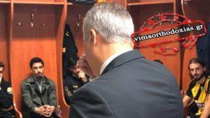 Ο Νίκος Κωστένογλου αποχαιρέτησε την ΑΕΚ με λόγια του Αγίου Παϊσίου