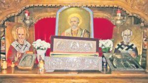 Αγιος Νικόλαος : Τα λείψανα και το Απολυτίκιο του
