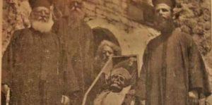 Το Σκήνωμα του Οσίου Παταπίου κατά την στιγμή της εύρεσής του το 1904