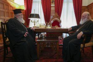 Στον Ιερώνυμο ο Πρέσβης της Παλαιστίνης και ο Αρχιεπίσκοπος Σινά