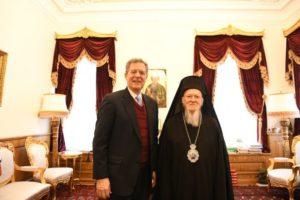 Συνάντηση Βαρθολομαίου με τον Αμερικανό διπλωμάτη αρμόδιο για θέματα διεθνούς θρησκευτικής ελευθερίας