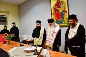 Ο Αργολίδος Νεκτάριος ευλόγησε την πίτα του Ραδιοφωνικού σταθμού της Μητροπόλεως