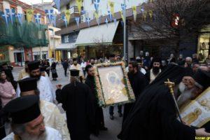 Η Παναγία Βηματάρισσα στην Κοζάνη – Την Εικόνα κόμισε ο Ηγ. Εφραίμ