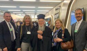 Η Μαρέβα Μητσοτάκη από το Νταβός εξυμνεί τον Πατριάρχη Βαρθολομαίο