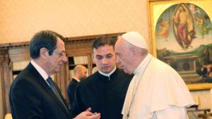 BATIKANO: Στηρίζει τις προσπάθειες για λύση του Κυπριακού ο Πάπας Φραγκίσκος