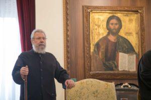 Κύπρος: Αγιασμός για την επιστροφή του Αρχιεπισκόπου Χρυσοστόμου