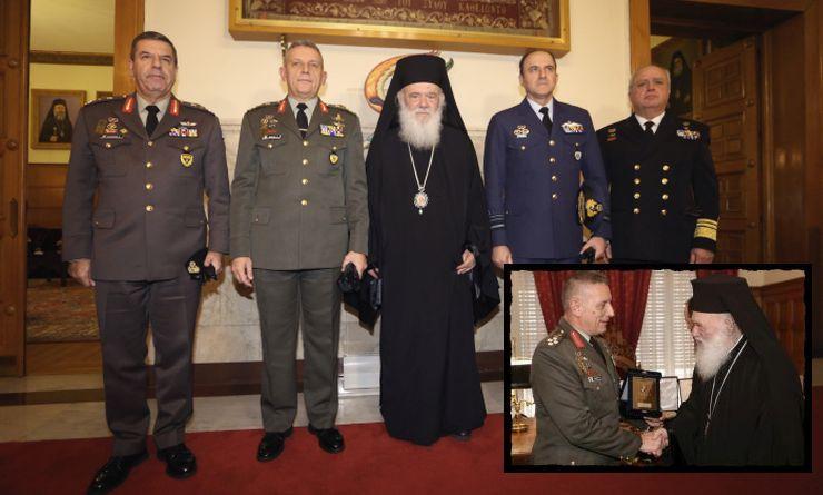 ΑΡΧΙΕΠΙΣΚΟΠΗ ΑΘΗΝΩΝ : Οι αρχηγοί των Ενόπλων Δυνάμεων στον Ιερώνυμο
