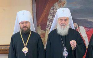 Συνάντηση Ιλαρίωνα με τον Πατριάρχη Σερβίας