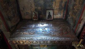 Ο τάφος του Οσίου Συμεών στη Μονή Χιλανδαρίου
