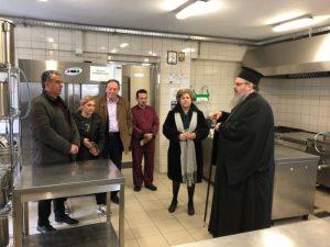 Αγιασμός στη Δομή των Κεντρικών Μαγειρίων από τον Λαρίσης