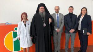 Αγιασμός σε ιδιωτικό Νοσοκομείο της Θεσσαλίας από τον Λαρίσης Ιερώνυμο