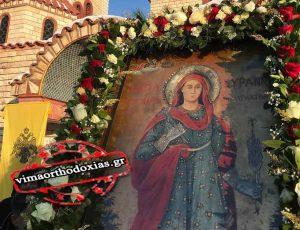 Η Θαυματουργή εικόνα και τα Θαυματουργά Λείψανα της Αγίας Κυράννας Θεσσαλονίκης