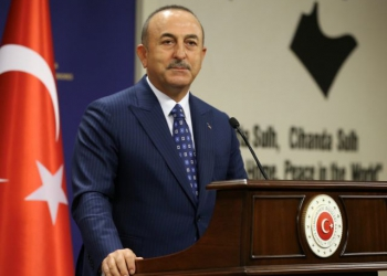 Turkish Foreign Minister Mevlut Cavusoglu is pictured during a news conference in Ankara, Turkey October 13, 2020. Turkish Foreign Ministry/Handout via REUTERS ATTENTION EDITORS - THIS PICTURE WAS PROVIDED BY A THIRD PARTY. NO RESALES. NO ARCHIVE